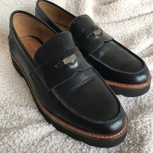 Coach Black Loafers barely used